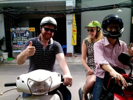hanoi city by motorbike